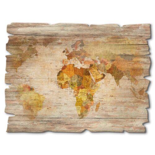 Artland Holzbild »Weltkarte«, Landkarten (1 Stück)