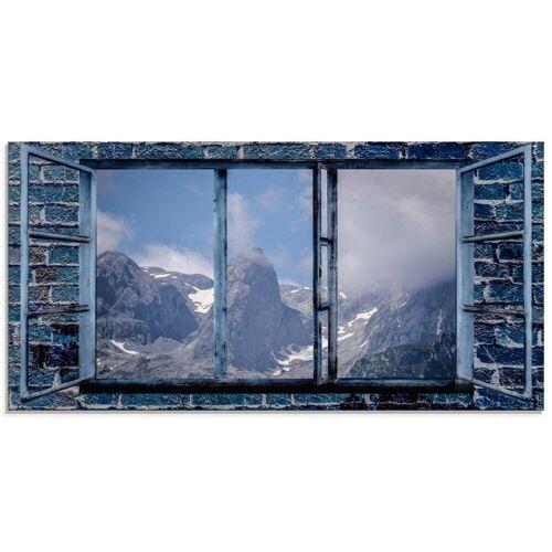 Artland Glasbild »Fensterblick - Hochkönig«, Fensterblick (1 Stück)