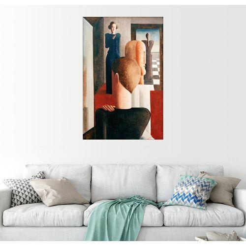 Posterlounge Wandbild, Fünf Figuren in einem Raum (Römisches)