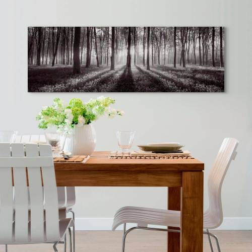 Sunbeam Holzbild »Deco Panel 52x156 Sunbeam Forest B/W«