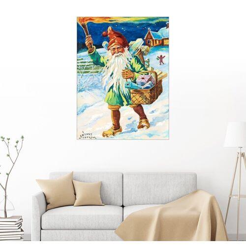 Posterlounge Wandbild, Gnom mit Fackel
