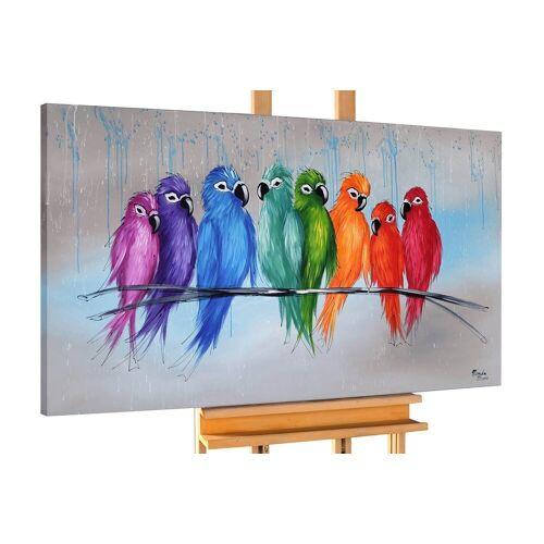 KUNSTLOFT Gemälde »Enger Zusammenhalt«, handgemaltes Bild auf Leinwand