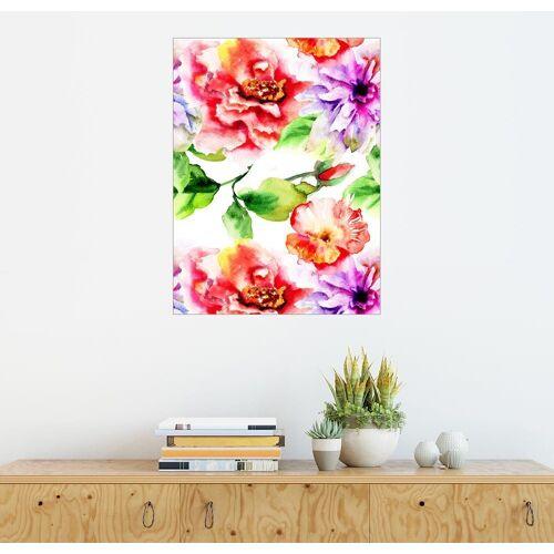 Posterlounge Wandbild, Blumen für den Valentinstag