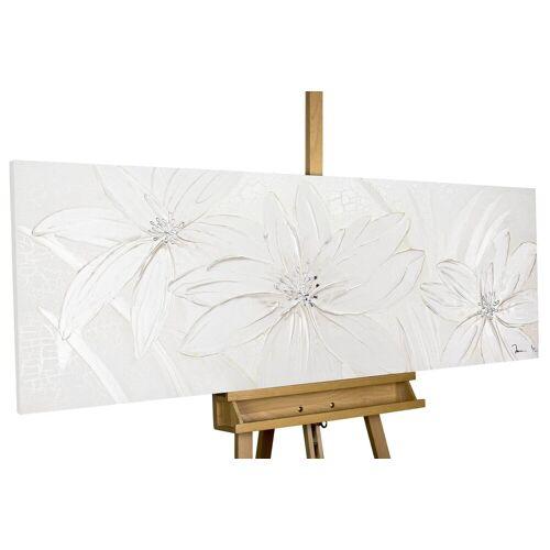 KUNSTLOFT Gemälde »Frozen Flowers«, handgemaltes Bild auf Leinwand