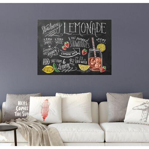 Posterlounge Wandbild, Erdbeerlimonade Rezept (Englisch)