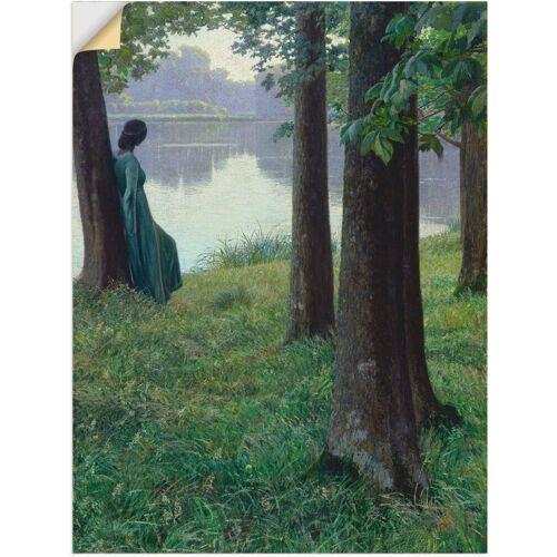 Artland Wandbild »Morgen am Teich in Rastede. 1906«, Frau (1 Stück)