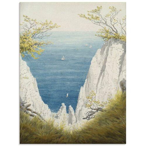 Artland Glasbild »Kreidefelsen auf Rügen. 1825/26.«, Felsen (1 Stück)