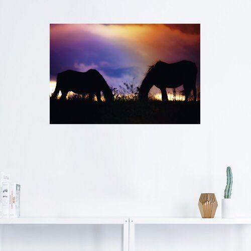 Artland Wandbild »Wilder Westen Abendstimmung«, Haustiere (1 Stück)