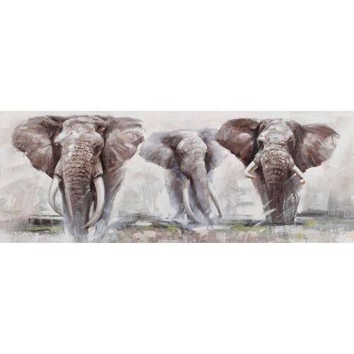 Ölbild »Elephant«, Elefanten