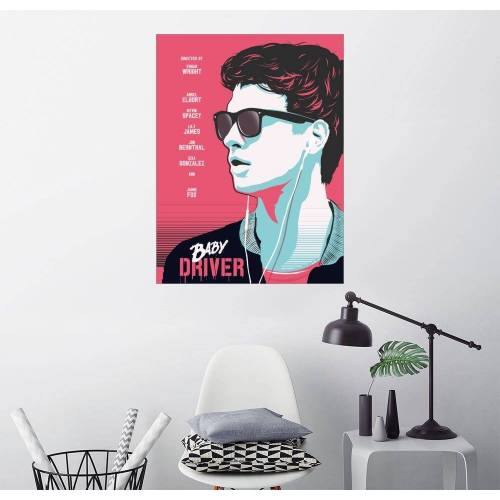 Posterlounge Wandbild, Premium-Poster Baby Driver