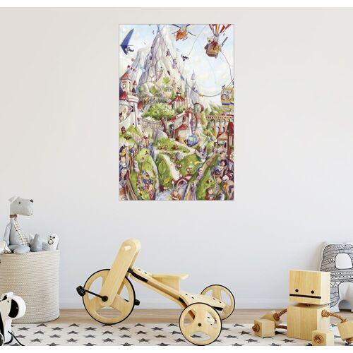 Posterlounge Wandbild, Wimmelbild: Auf dem Berg