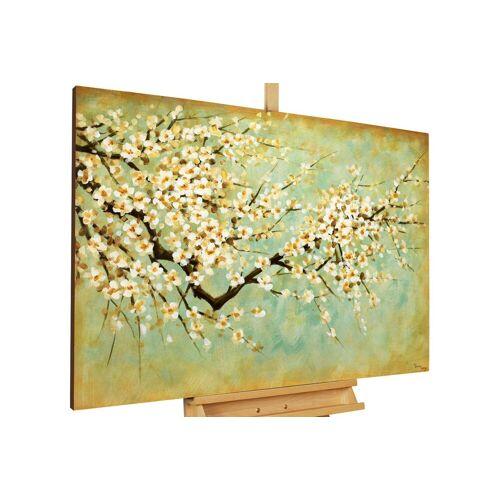 KUNSTLOFT Gemälde »Kirschblüten«, handgemaltes Bild auf Leinwand