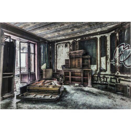 KARE Dekoobjekt »Bild Glas Vintage Piano Room 100x150cm«