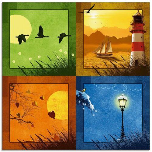 Artland Glasbild »Alle 4 Jahreszeiten«, Vier Jahreszeiten (1 Stück)