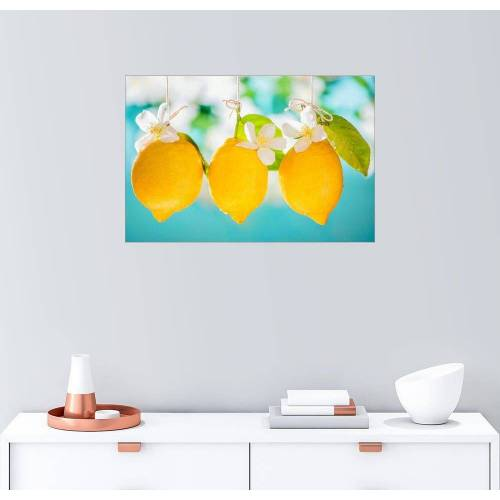 Posterlounge Wandbild, Saftige Zitronen