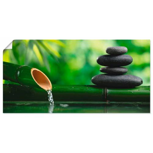 Artland Wandbild »Bambusbrunnen und Zen-Stein«, Zen (1 Stück)