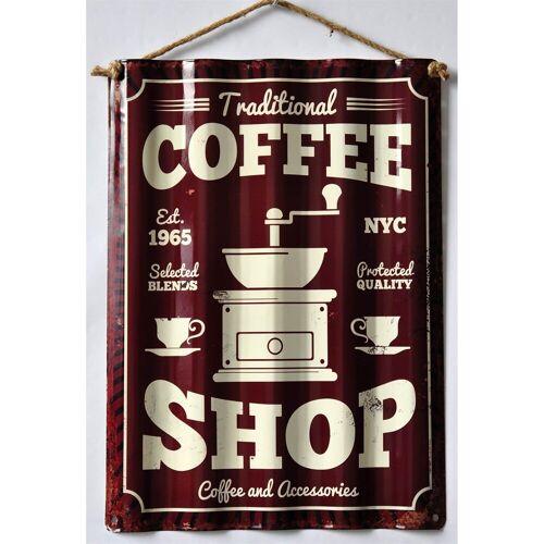 HTI-Line Metallschild »Blechschild Coffee«, Blechschild