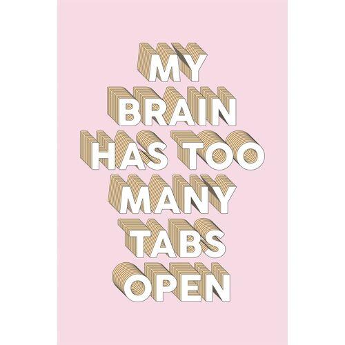 queence Leinwandbild »Spruch Brain«