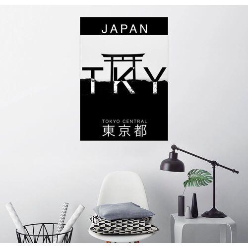 Posterlounge Wandbild, Tokio Japan Typographie