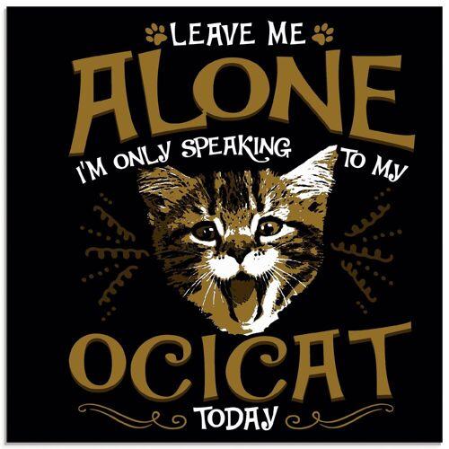 Artland Glasbild »Ocikatze Katze Haustier Tier Lustig«, Humor (1 Stück)