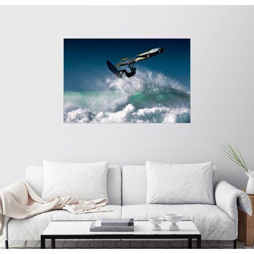 Posterlounge Wandbild, Windsurfer in der Luft