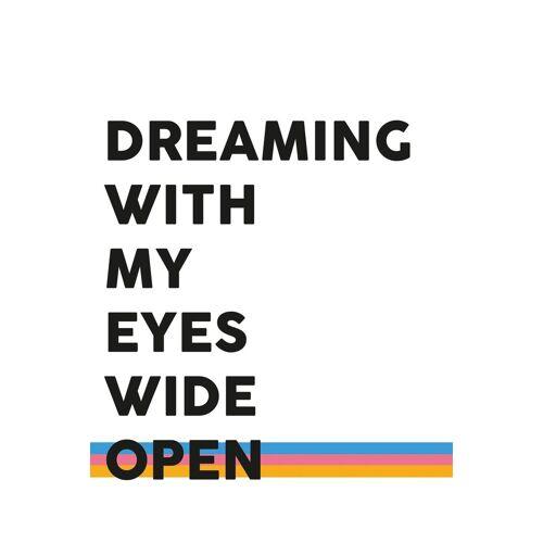 queence Leinwandbild »Spruch Dreaming«