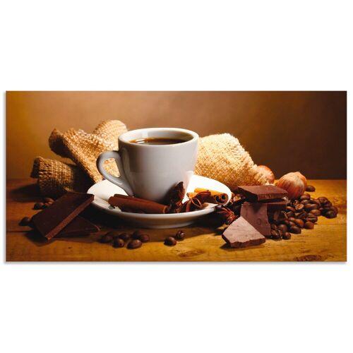 Artland Wandbild »Kaffeetasse Zimtstange Nüsse Schokolade«, Getränke (1 Stück)