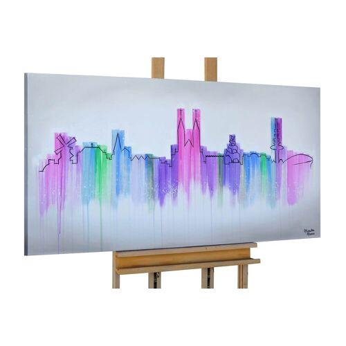 KUNSTLOFT Gemälde »Lines of Skyline«, handgemaltes Bild auf Leinwand