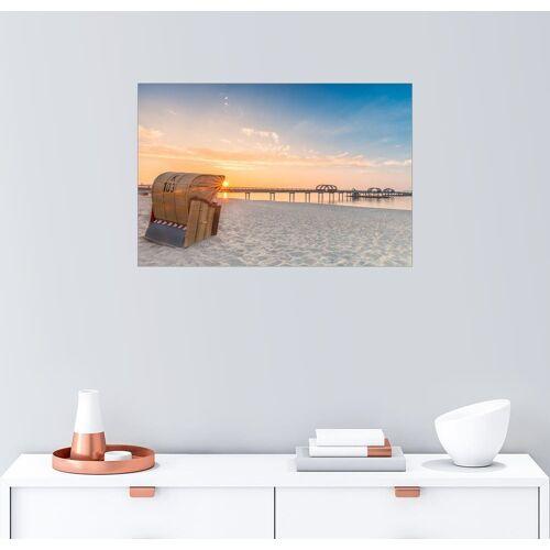 Posterlounge Wandbild, Kellenhusen Seebrücke Strandkorb Ostsee