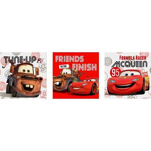 ART for the home Set: Leinwand »CARS FRIENDS«, Disney, 3-er Set, braun/rot/schwarz
