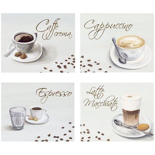 Home affaire Kunstdruck »Kaffee«, (Set), 4-tlg., je 29/23 cm