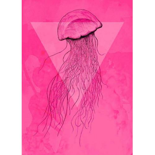 Komar XXL Poster »Jellyfish Pink«, bunt