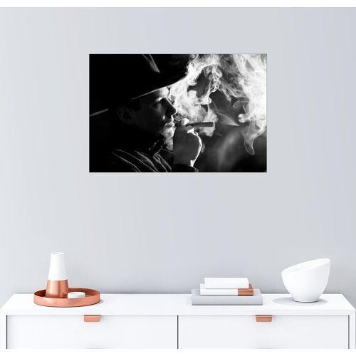 Posterlounge Wandbild, rauchender Cowboy