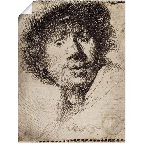 Artland Wandbild »Selbstbildnis mit aufgerissenen Augen«, Porträts (1 Stück)