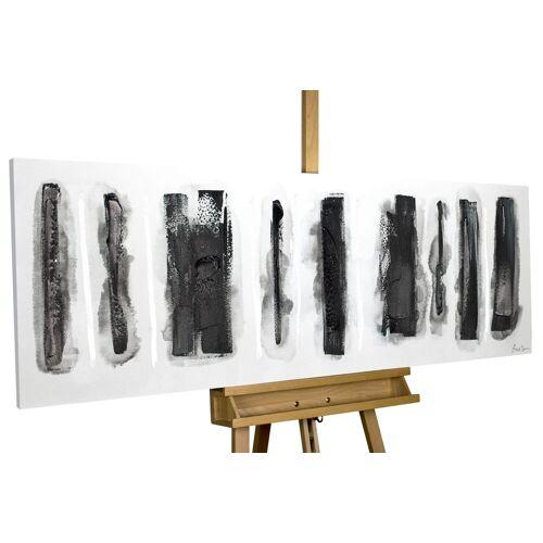 KUNSTLOFT Gemälde »Fährten im Schnee«, handgemaltes Bild auf Leinwand