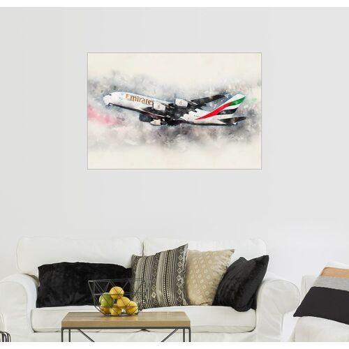 Posterlounge Wandbild, Emirates A380