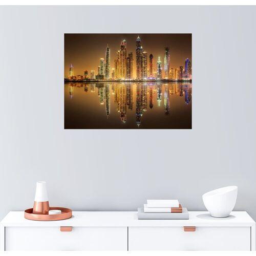 Posterlounge Wandbild, Spiegelbilder Dubai Marina Bay