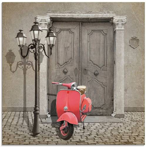 Artland Glasbild »Oldtimer Motorroller Colorkey«, Motorräder & Roller (1 Stück)