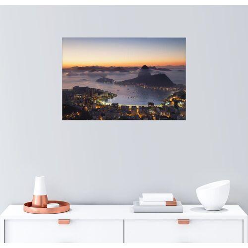 Posterlounge Wandbild, Zuckerhut und Botafogo Bay