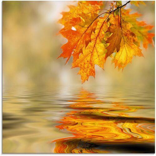 Artland Glasbild »Herbstblätter«, Blätter (1 Stück)