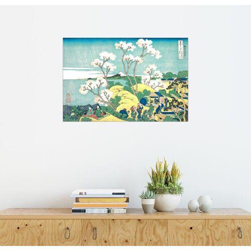 Posterlounge Wandbild, Der Fuji von Gotenyama in Shinagawa