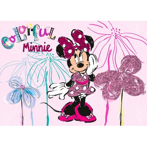 Disney Leinwand »Minnie Mouse«, mit Pailletten, rosa