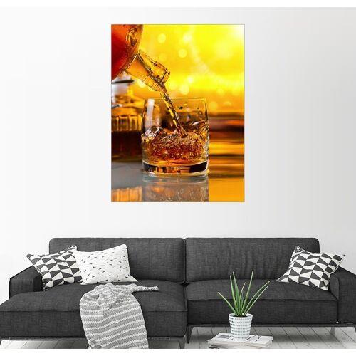 Posterlounge Wandbild, Whisky mit Eis