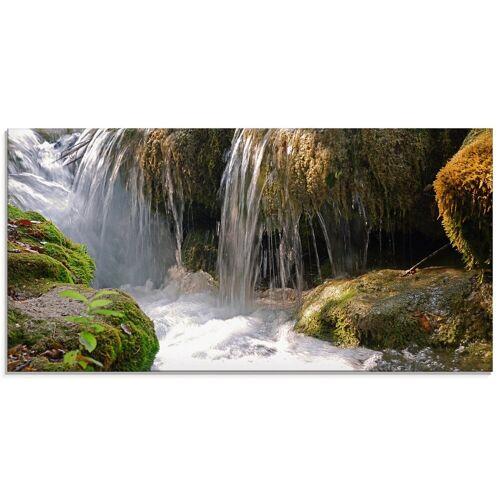 Artland Glasbild »Wasserfall«, Gewässer (1 Stück)