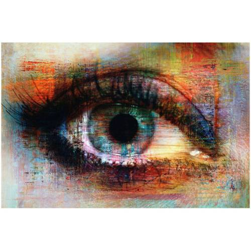 ART & Pleasure Acrylglasbild »The eye«, aus Acrylglas, bunt