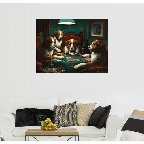 Posterlounge Wandbild, Das Pokerspiel