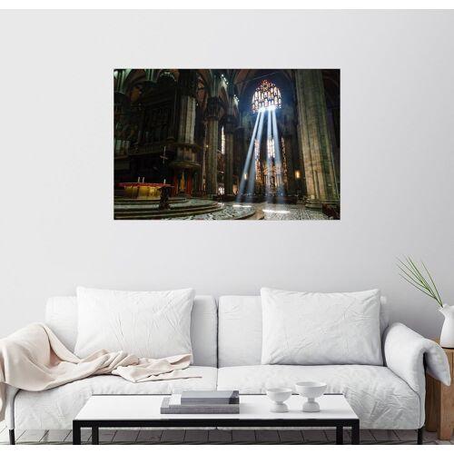 Posterlounge Wandbild, Lichteinfall im Mailänder Dom