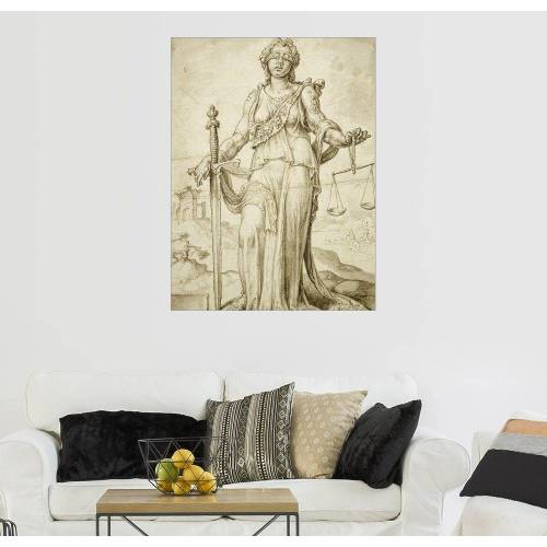 Posterlounge Wandbild, Leinwandbild Justitia