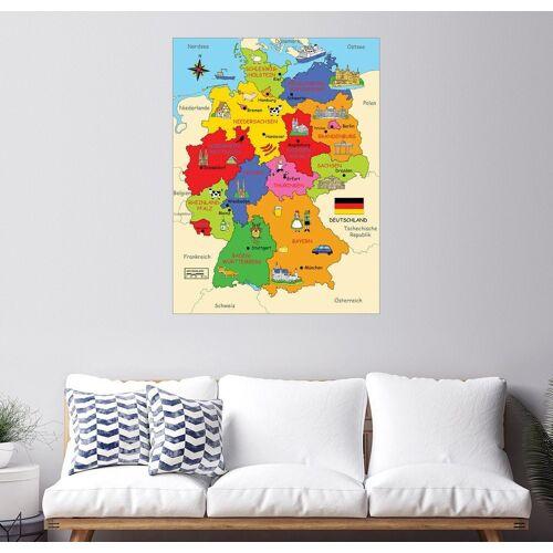 Posterlounge Wandbild, Bundesländer für Kinder