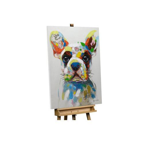 KUNSTLOFT Gemälde »Der bunte Hund«, handgemaltes Bild auf Leinwand